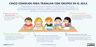 http://www.aulaplaneta.com/2015/07/07/recursos-tic/cinco-consejos-para-trabajar-con-grupos-en-el-aula/?utm_source=Facebook&utm_medium=postint&utm_campaign=rssint