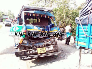 Two Eicher vehicle collision kills 2 in kalimpong