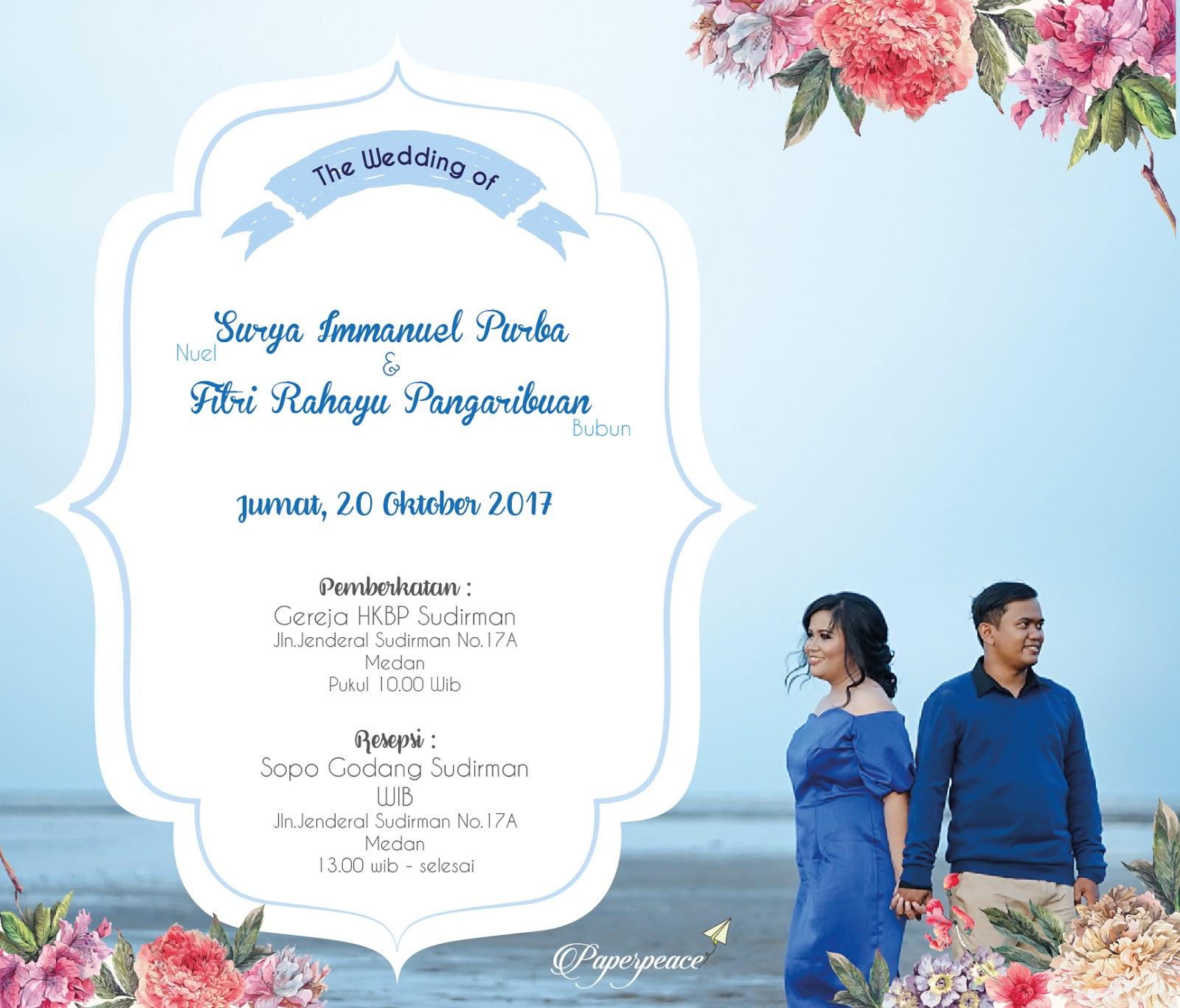 paperpeace: E invitation with pre wedding photo for mr.Nuel & ms.Bubun