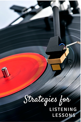 Need ideas for incorporating listening lessons into your music lessons? Check out these five strategies, including keeping the beat, choosing composer of the month, and more!