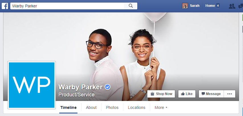 Warby Parker Facebook Cover Photo