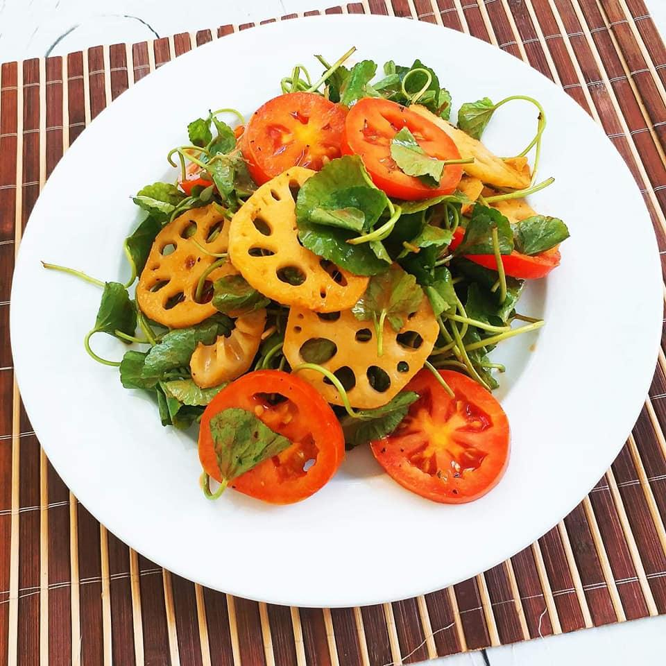 Kết quả hình ảnh cho Salad củ sen