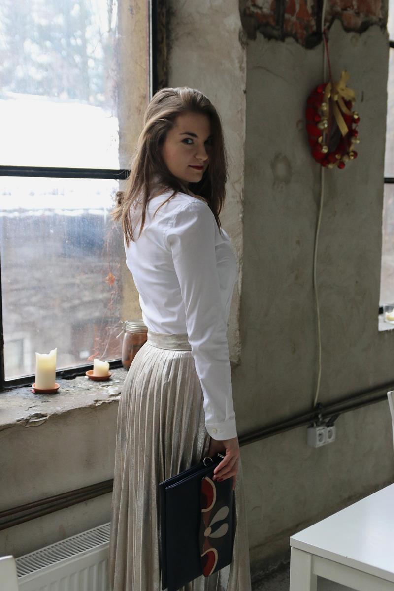 plisowana spódnica