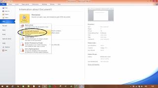 Memberi Pengaman (password) Pada file Document