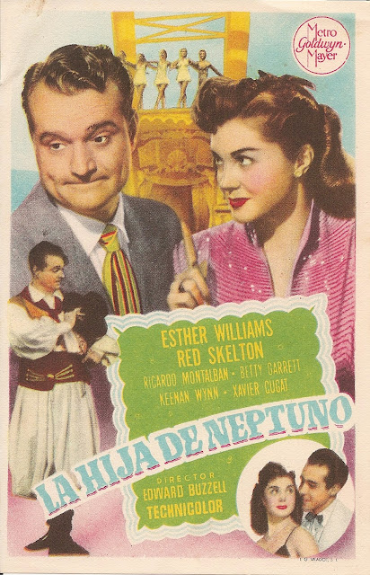 Programa de Cine - La Hija de Neptuno - Red Skelton - Esther Williams - Ricardo Montalbán