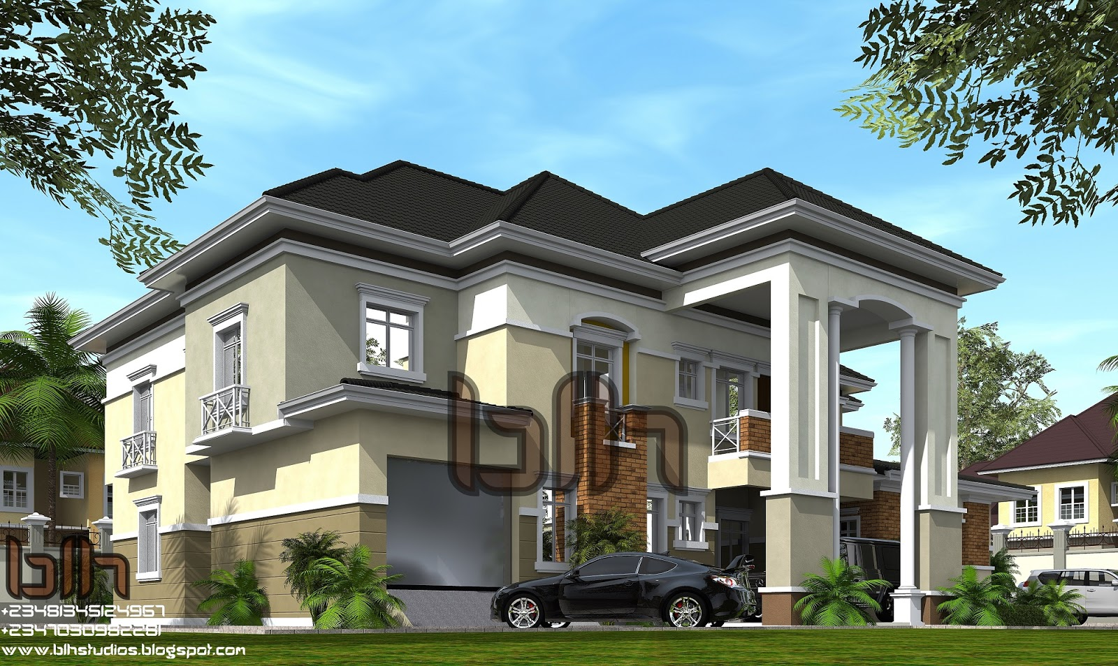 Architectural designs by blacklakehouse 6 bedroom duplex for 6 bedroom duplex