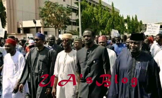 Please Compare..Throwback Photo Of Buhari, Oyegun, Others Protesting On the Streets against INEC in 2014  to recent