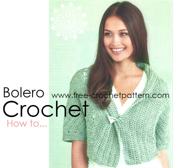 Bolero Crochet / Sleigh shrugh / Free Pattern - Free Crochet Patterns