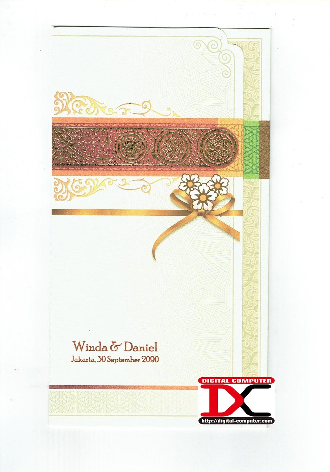 undangan pernikahan harga 2500