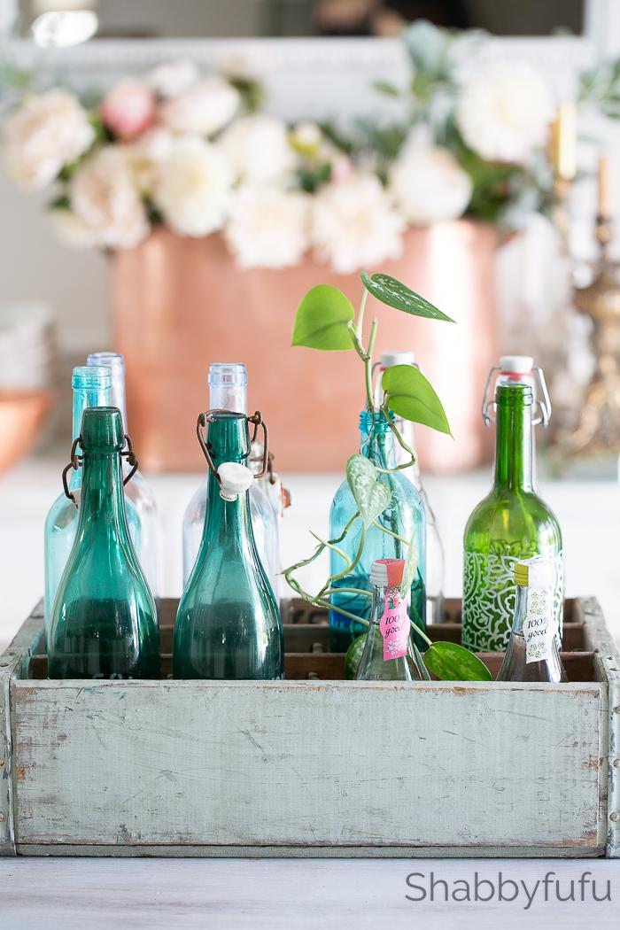 vintage french bottles flea market