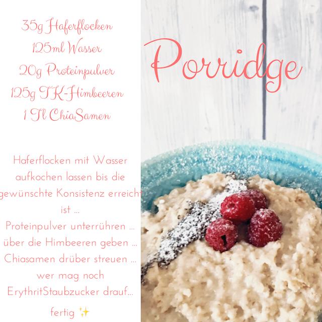 GrinseStern, Rezept, Porridge, Himbeer-Vanille-Porridge