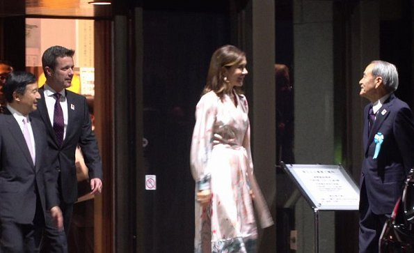 Japan and Denmark: Valuable Records of the Historical Relation exhibition. Crown Princess Mary wore dress