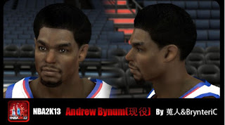 NBA 2K13 Andrew Bynum Cyber Face Mod Afro
