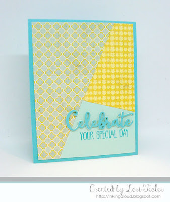 Celebrate Your Special Day card-designed by Lori Tecler/Inking Aloud-stamps and dies from Lil' Inker Designs