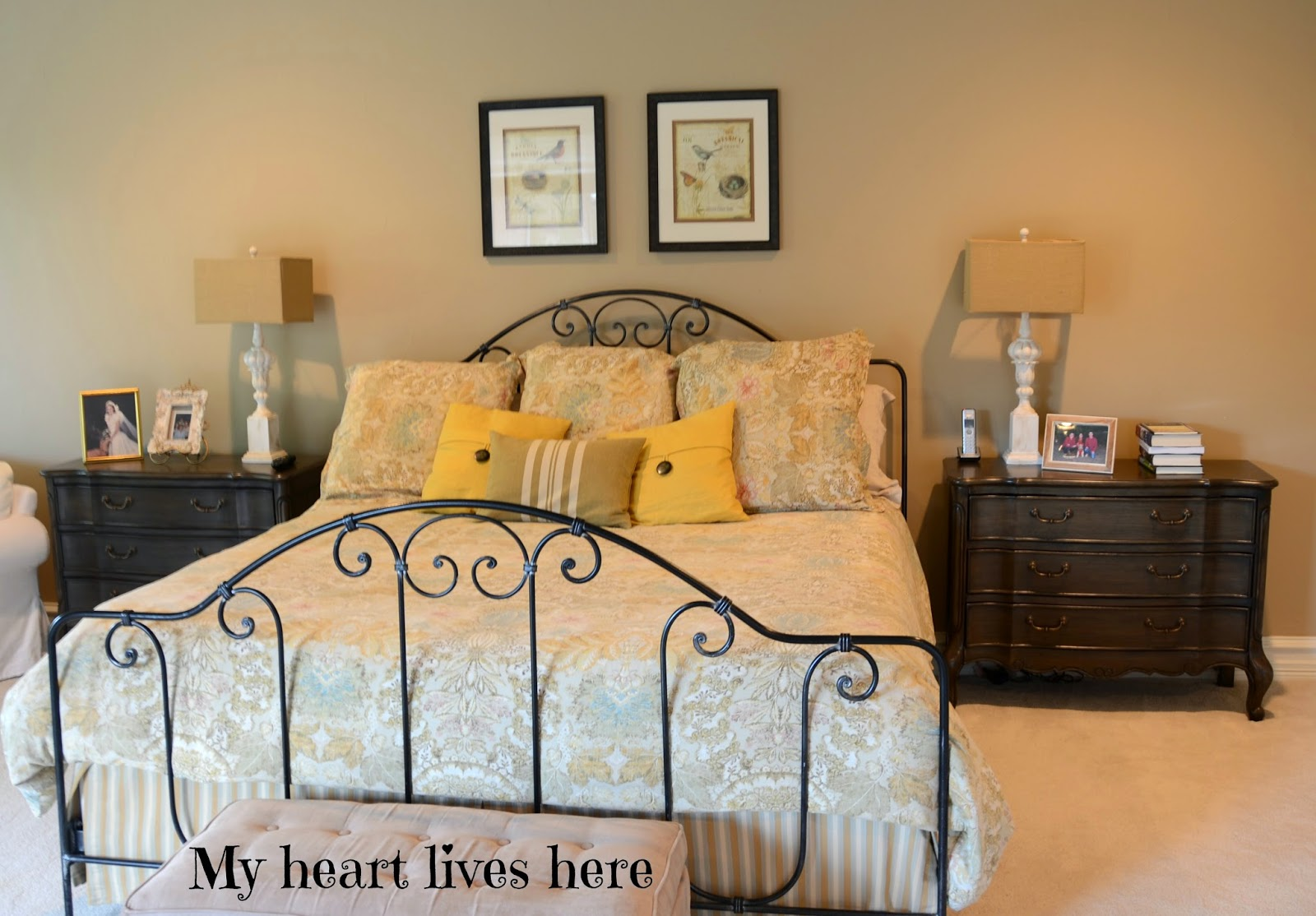 French Country Master Bedroom - My Heart Lives Here