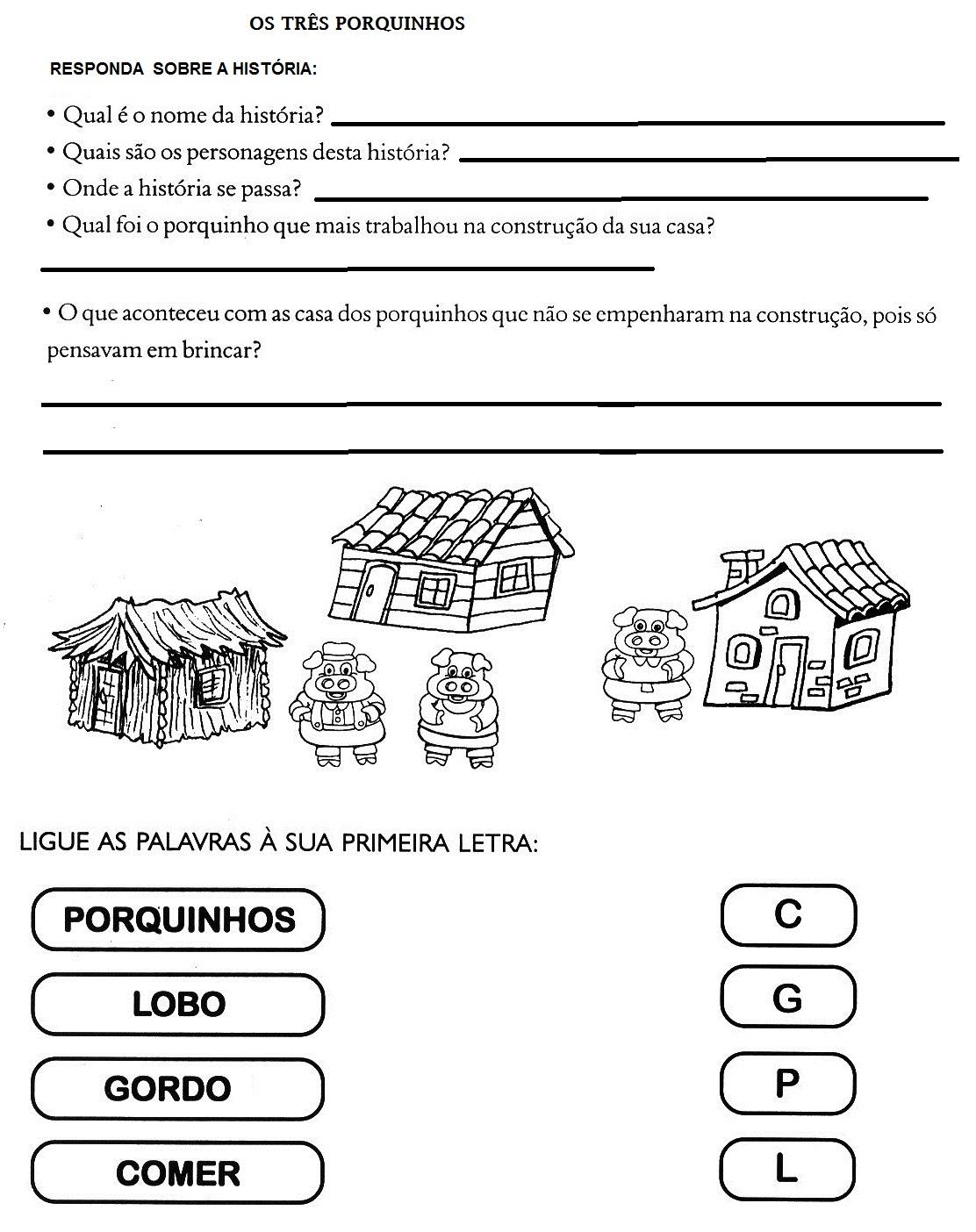 Desenhos Dos Tres Porquinhos Em Portugues