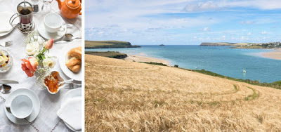 The breakfast at Armsyde Padstow set in a stunning location