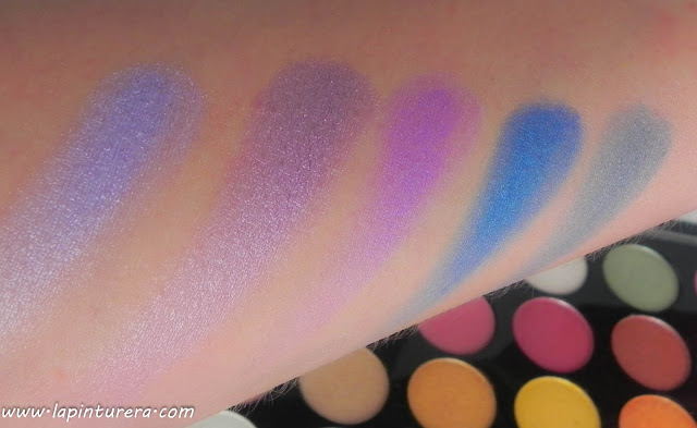 Paleta Exhilarate swatches 07