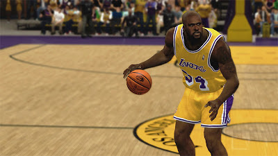 NBA 2K13 Shaquille O'Neal Los Angeles Lakers Retro