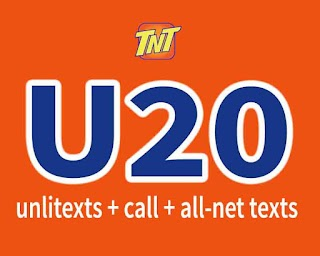 TNT U20 – 3 Days Unlitext + Calls to Smart/TNT/Sun for only 20 Pesos