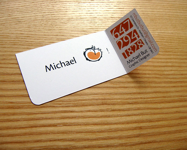 Diseño de tarjeta de presentación muy creativa