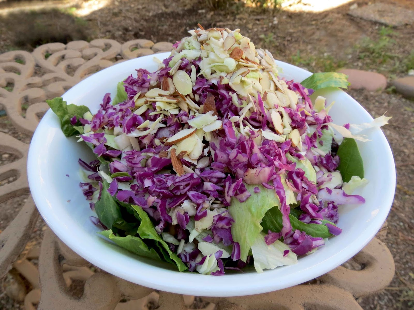big salad with cruciferous veggies