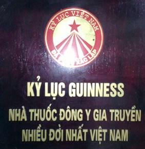 Kỷ Lục Guiness Nhà Thuốc Đông Y gia truyền nhiều đời nhất Việt Nam QUẢNG CÁO