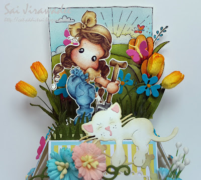 Magnolia Tilda in the Garden Spring Box Card