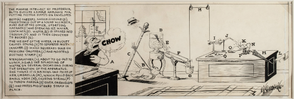 Rube Goldberg's Professor Butts cartoon.