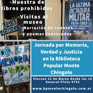 La Biblioteca organiza jornada de Memoria, Verdad y Justicia