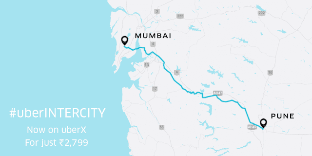 Book your ride for inter city travel starting between Mumbai Pune