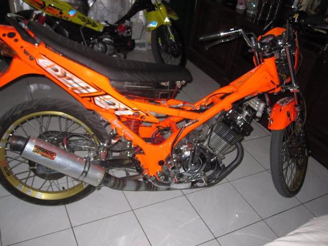 MODIFICATION Satria FU 150 CC,Orange Full Modif