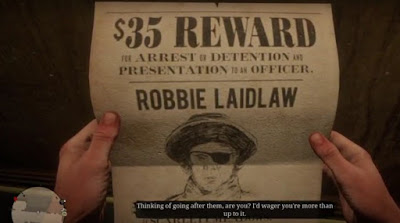 Robbie Laidlaw, Bounty Hunting Guide, RDR2, Red Dead Redemption 2