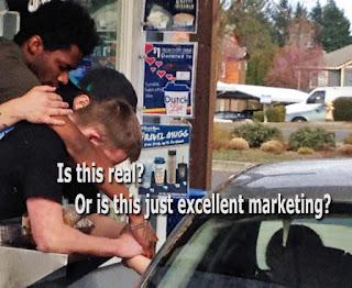 Dutch Bros review, praying with customer, fake or real