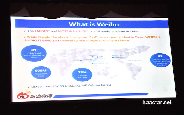 WEIBO is BIG in China
