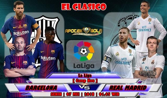 Prediksi Barcelona vs Real Madrid 07 Mei 2018