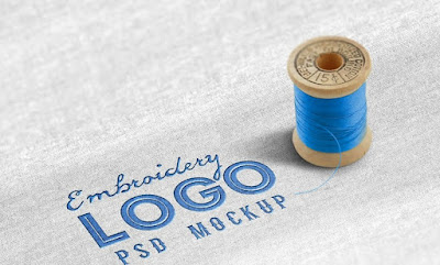 Fabric Embroidered Logo PSD