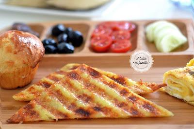 toast de pomme de terre
