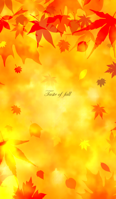 Taste of fall