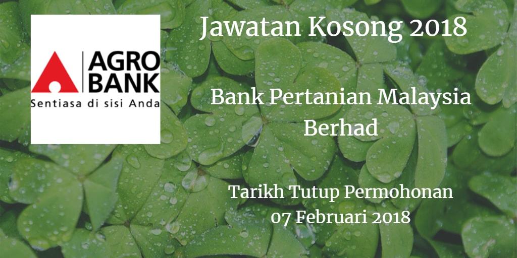 Jawatan Kosong Agrobank 07 Februari 2018