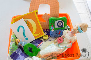 How to Make a Letter Q Sensory Bin