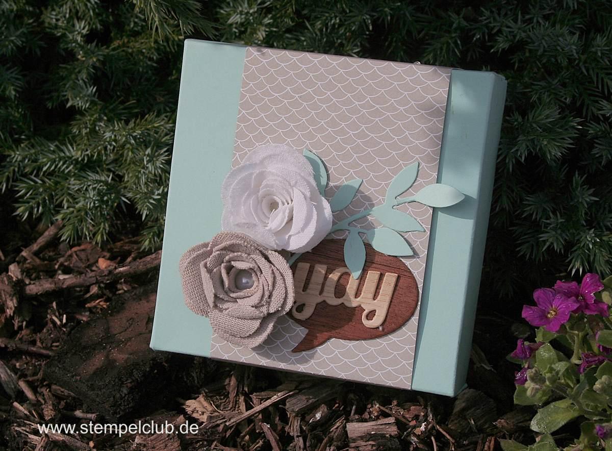 Hochzeitsdekoration, Box mit dem Envelope Punchboard von Stampin' Up!