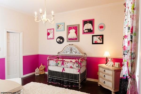 Chambre bébé fille contemporaine