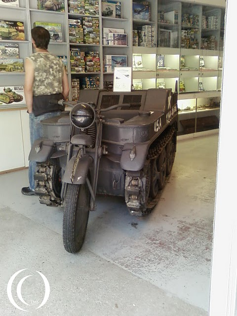 A Kettenrad used by US troops on display at the Musée de la Bataille des Ardennes