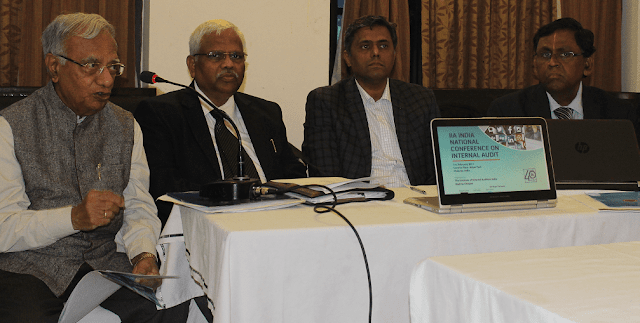 From left to right Mr. P.R. Loganathan, Technical Chair, Mr. K. Vidyadharan, AII India President, Mr. Giridhar Janardhana, Conference Chairman and Mr. P.K. Ranganathan, President, Madras Chapter.