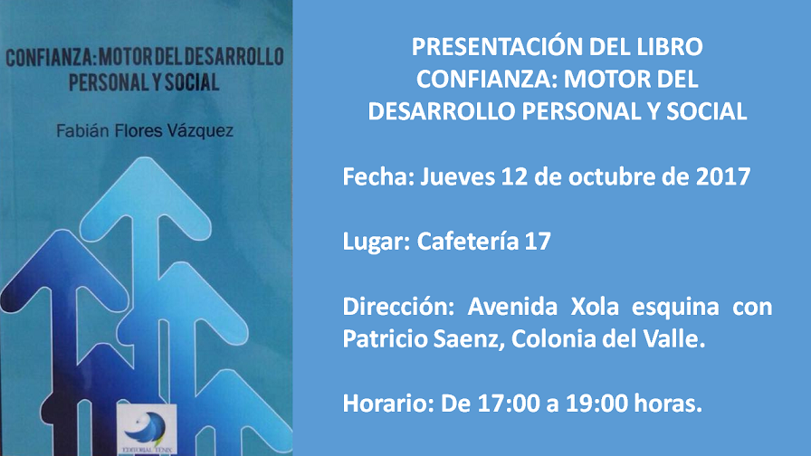 "Zona De Expresión: PRESENTACIÓN DEL LIBRO: ""CONFIANZA"