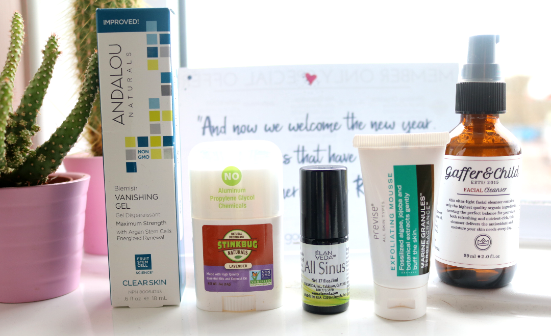 Goodbeing Natural Beauty & Wellness Lifestyle Box - January 2018 review