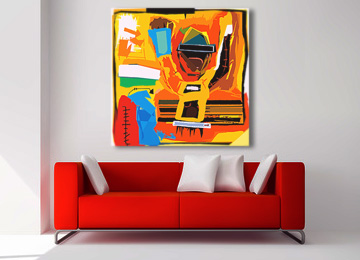 wall art, neo expressionism, abstract, canvas art, modern, multi coloured, large, canvas print, contemporary,