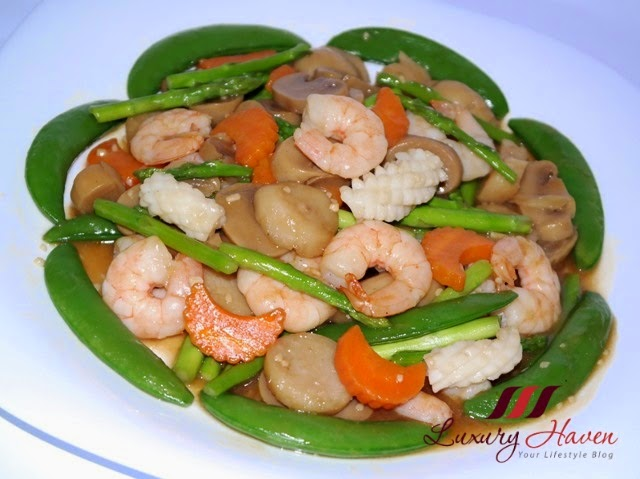 stir fry vegetables with seafood recipe