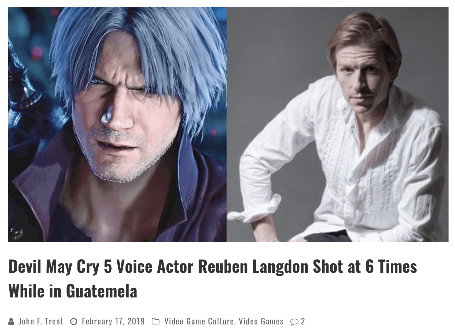 free to find truth: 213 | Reuben Langdon (Devil May Cry